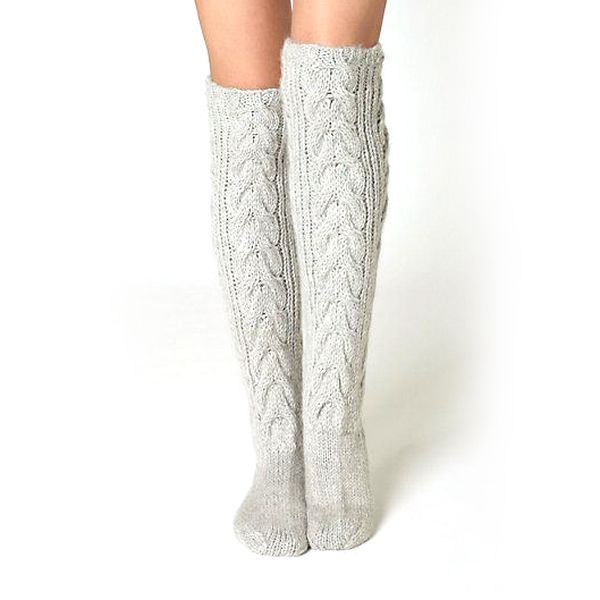 Knitting Pattern Knee High Socks Support Custom Private Label
