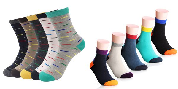 colored socks for men