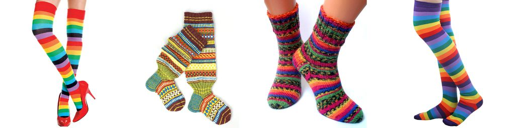 colorful knit sock