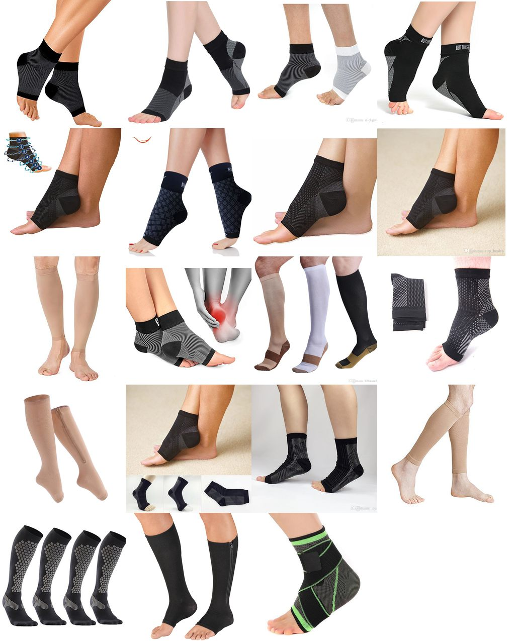 compression socks for ankle swelling