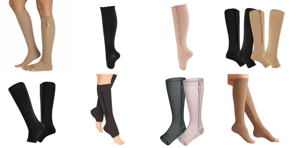 compression zip sock