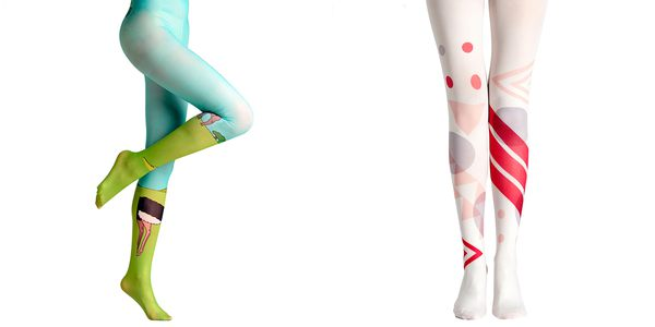 cotton compression socks with cartoon