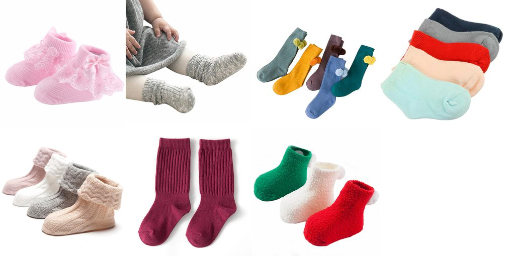 solid color baby socks
