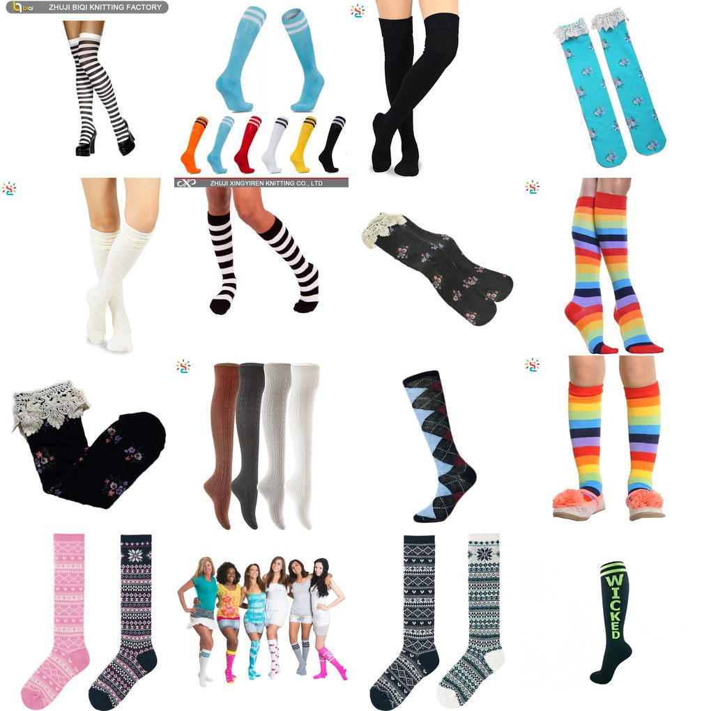 teen girl knee high tube sock