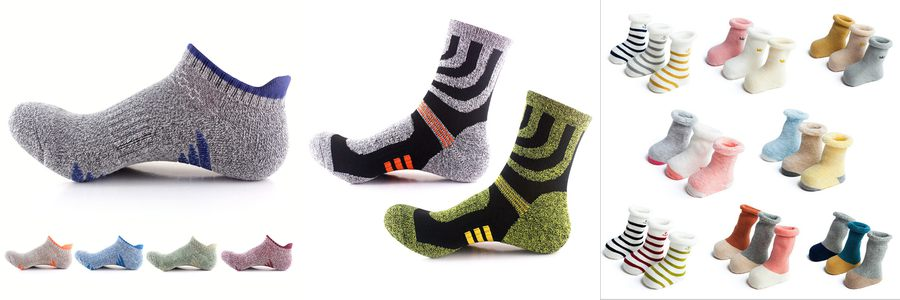 terry socks cheap wholesale