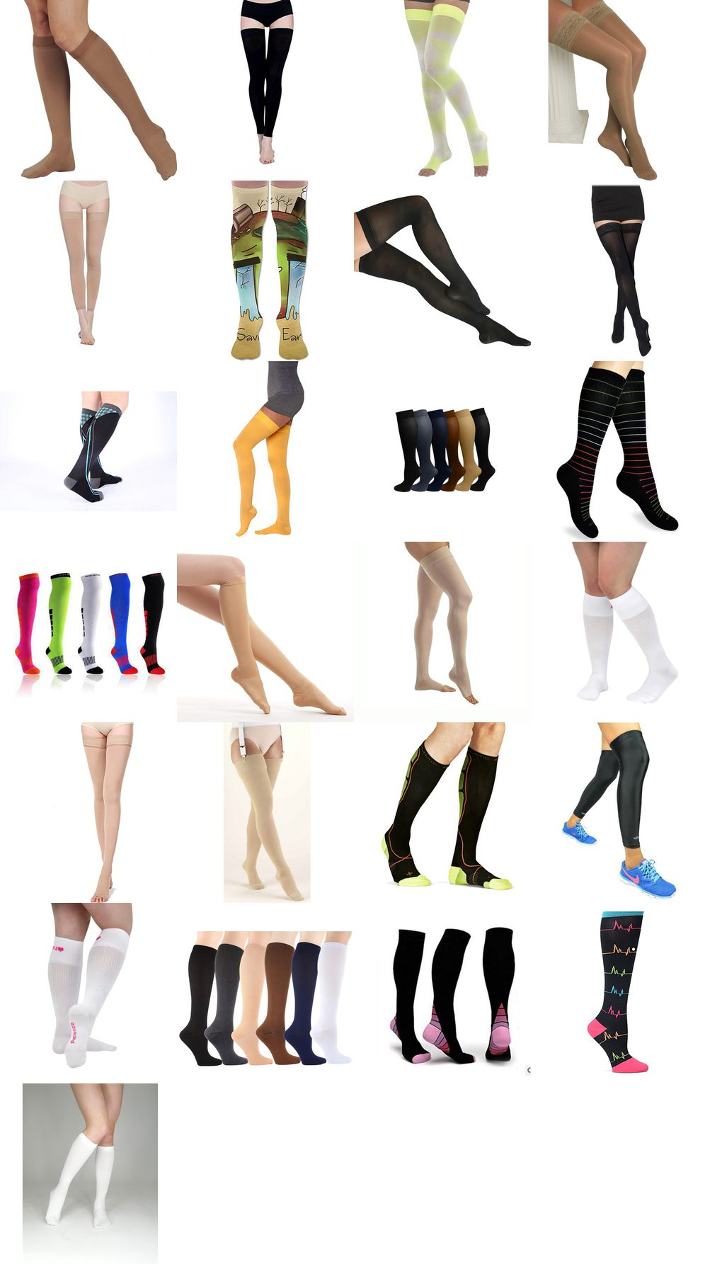 thigh high compression socks for nurses