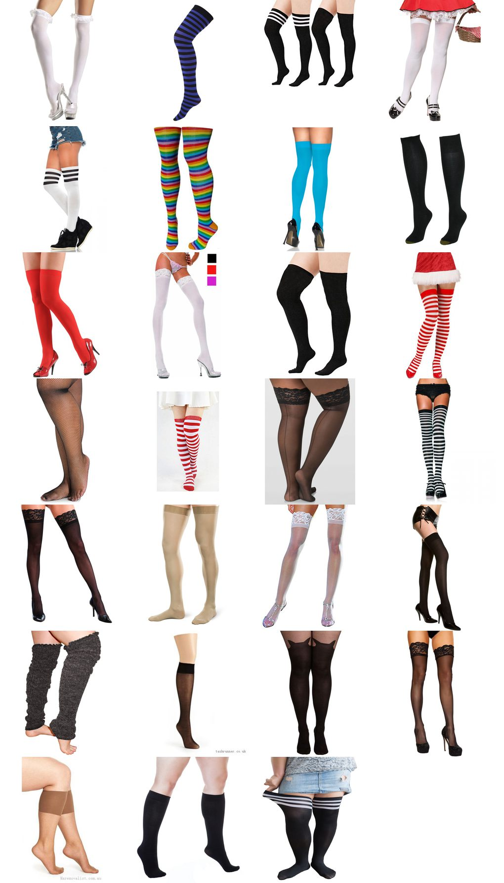 thigh high plus size socks