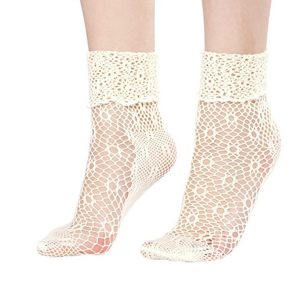 woman socks lace