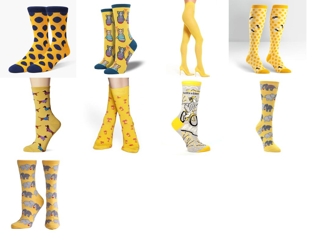 yellow socks womens